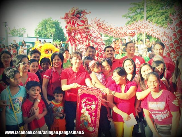 Mayor Heidee Chua posed Kung Hei Fat Choi